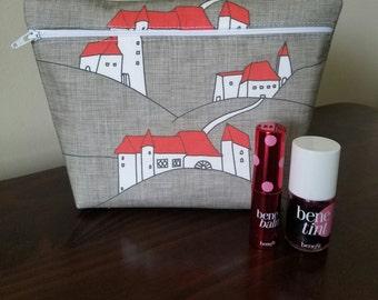 Modern Makeup Bag - Bridesmaid Bag  - Bridesmaid Gift  -  Cosmetic Bag - Waterproof Bag - Wet Bag