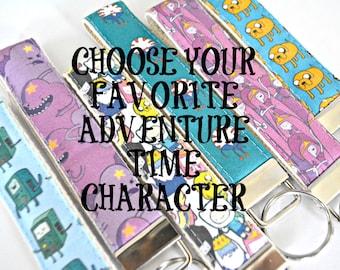 Adventure Time  Key Fob - Teacher Gift - Bmo - Adventure TIme Fabric  - Finn and Jake - Princess Bubblegum - Lumpy Space Princess