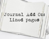 Add On: Lines on plain pages