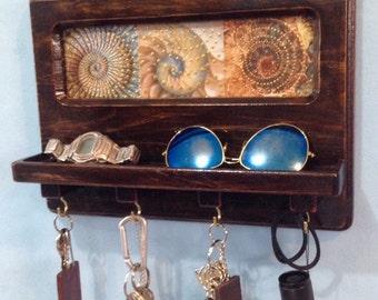 Seashell Keyring Holder and Catchall Valet
