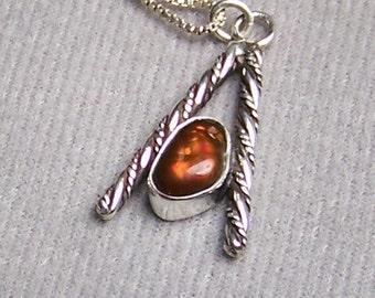 Fire Agate Necklace Fire Agate Pendant