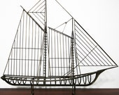 Mid Century Large Curtis Jere Ship Boat Sculpture
