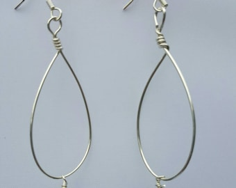 Silver and pearl teardrops