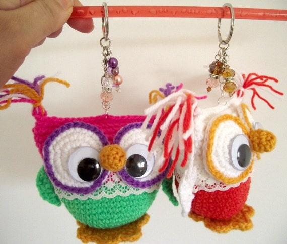 Amigurumi Owl Keychain : Crochet Pattern OWL Keychain AMIGURUMI by LiliaCraftParty ...