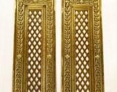 Pair of Rococo Brass Finger Plates, Finger Plate, Brass Push Plates, Door Furniture, Door Plate, French Finger Plate, French Door Plate 4191