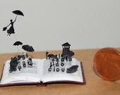 Miniature book sculpture Mary Poppins