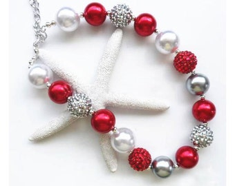 READY TO SHIP!! Silver Bells chunky necklace
