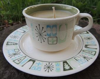Nag Champa Teacup Candle & Saucer