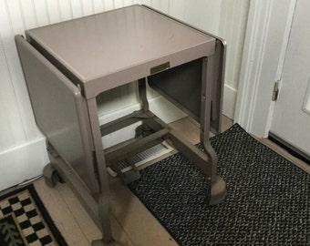 Vintage Metal Typewriter Table,Metal Industrial Typewriter Table,Typewriter Stand.