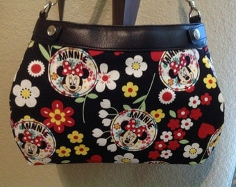 Minnie Mouse Medallions and flowers SUITE skirt Purse Skirt HANDMADE Thirty One skirt