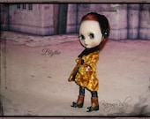 Blythe ~ Coat made with Vintage  Russian Plush 1950s 3 Piece Outfit  ~  by KarynRuby