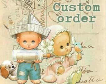 Custom Order Baby Boy Blanket and Onesie Set