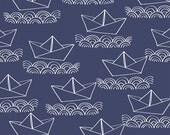Sailboat (Blue) - Ahoy Matey - Whistler Studios - Windham Fabrics - 1 Yard