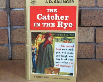 The Catcher In The Rye by J.D. Salinger - Signet Books Vintage Paperback 1st Ed 11th Printing 1959