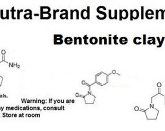 Bentonite clay capsules 730mg  key 48bg