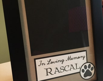 In Loving Memory --- Custom Order Dog Frame -- Include the Name and Picture of your Dog, loss of pet, pet sympathy,