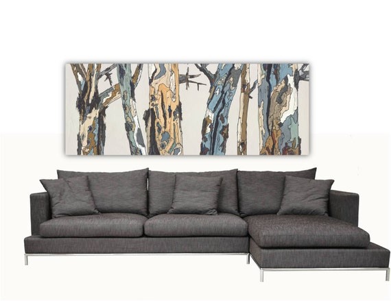 Extra Large Wall Art Long Canvas Print Trees Landscape Artwork