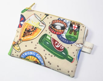 Coin purse for men, mens gift, beer purse, gift for men