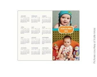 INSTANT DOWNLOAD - 8x10 Calendar template 2016 - Jacob - E190