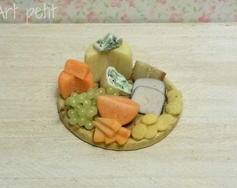 Cheese board for dollhouse scale