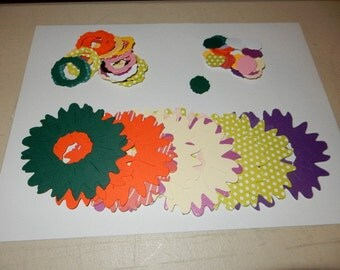 Paper Die-Cuts: Sunflower with Mix & Match pieces