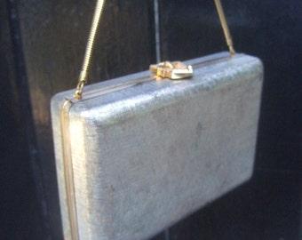 Elegant Silver Metal Evening Bag c 1970