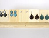 Wood Jewelry Display, Wood Earring Displays, Earring Card Holder, Earring Stand, Earring Tree, Choose the Stain