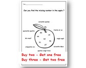 MISSING NUMBER,French Worksheet,Primary Printable for Children KS1 KS2,Learn the Numbers in French with Worksheet,Numbers Activity,Education