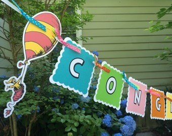 """Oh, The Places You'll Go """"Congratulations"""" Banner"""