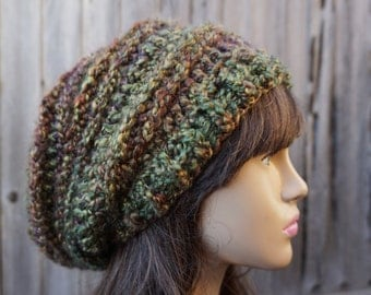 Crochet Hat - Slouchy  Hat Multicolored - Winter Accessories Autumn Accessories Fall Fashion