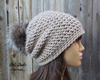 Crochet Hat - Slouchy  Hat, Crochet Pattern PDF,Easy, Pattern No. 88