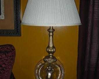 1960'S Pair Of Huge Bubble Glass Cherub / Angel Lamp