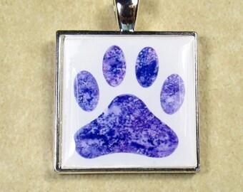 Paw Print Pendant, Paw Print Necklace, Paw Print Jewelry, Paw Print Gifts, Dog Print Necklace, Dog Print Pendant, Dog Print Gifts
