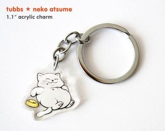 Tubbs / Manzoku-san // Neko Atsume // Acrylic Keychain Charm