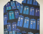 Luggage Tags Dr Who Tardis Blues Fabric & Vinyl Travel Accessory Cruise Journey Bag Tags Geek Techie Gift Card Holder Sci Fi Fantasy