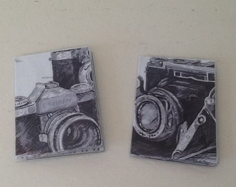 Gift Card Holder Vintage Camera Fabric Photographer Business Card Holder Mini Wallet Credit Debit Card Subway Pass Bus ID Photojournalist