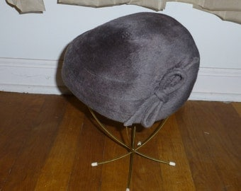 Ladies Post War Hat Rickie for Martelle from Germany 1950s faux fur ON SALE!