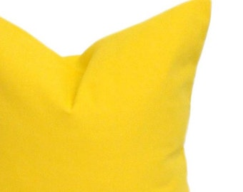 YELLOW PILLOW SALE,Solid Yellow.12X16 or 12x18 inch.Lumbar Pillow Cover.Decorative Pillows.Yellow Cushion Cover. Lumbar Pillow. Solid Yellow