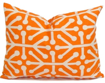 PILLOW SALE.12x16 or 12x18 inch. Orange Pillow Cover.Orange Lumbar Pillow.Orange Pillow Cover, Orange Cushion Cover, Orange Lumbar Cushion