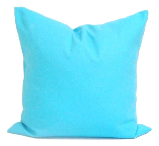 Solid Blue Pillows Decorative Pillows ALL SIZES Bright Blue