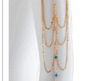 Upper Arm Cuff Bracelet band,  prom dress jewelry,Boho Body Jewelry, Cochella Music Festival Jewelry, Popular Jewelry , By- PiYOYO 45757