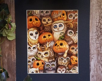Matted Print: The Pumpkin Parliament (Limited Edition)