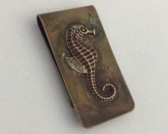 Seahorse Rustic Money Clip