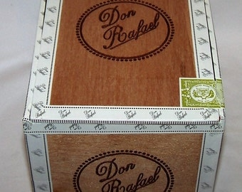 Empty Cigar Box Solid Wood Don Rafael #77 Cigar Box Natural Wood