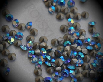 Xilion 1028 21pp Genuine Swarovski Crystals Light Sapphire AB Rounds Foiled Rhinestones 144pcs 1 Gross