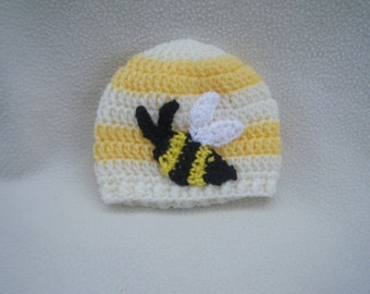 Sweet Crocheted Bumble Bee Hat - Made to Order