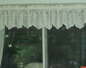 Lace Valance Romantic White French Country Cottage Chic