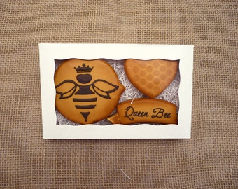 Decorated Cookies - Mother's Day - Queen Bee - Gift Box