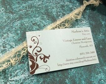 1 yard of 3/4 inch Ivory Ruffled Chantilly lace trim for bridal, baby, wedding, garter, crafts by MarlenesAttic - Item 2M