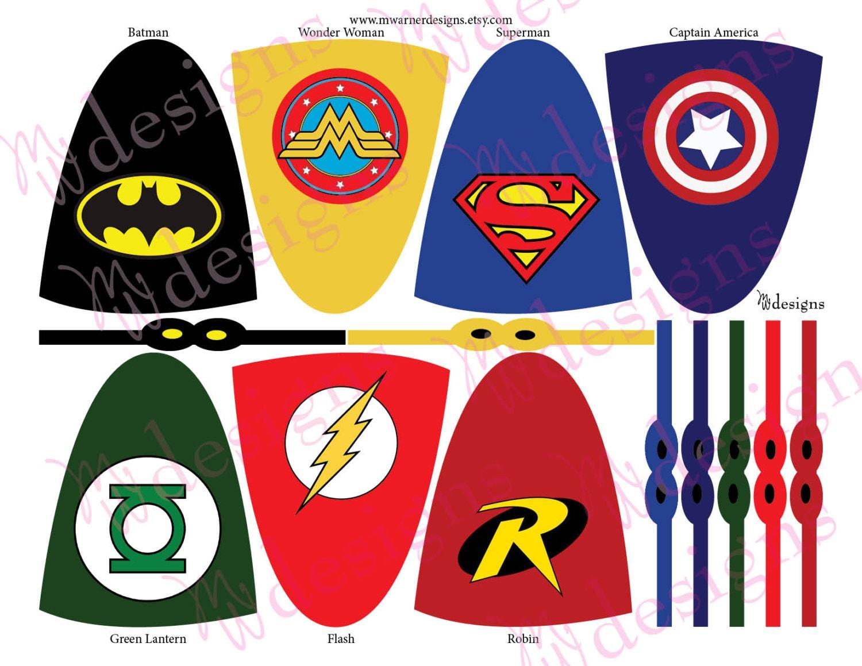 Superhero Lollipop Capes And Masks Superhero Party Instant